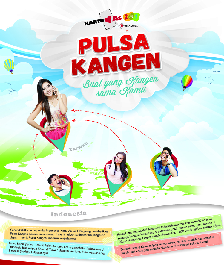 Pulsa Kangen Kartu As 2in1
